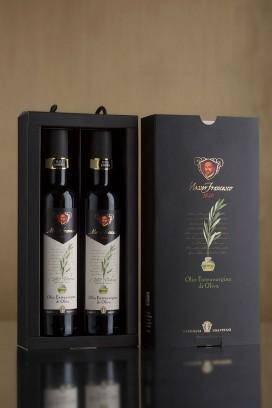Olio Extravergine di Oliva Messer Francesco 1640 2 X 0,5L Confezione Deluxe