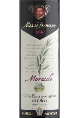 MESSER FRANCESCO - 'MORAIOLO' Monocultivar - Olio Extravergine di Oliva Italiano Bottiglia da 0,5 Lt